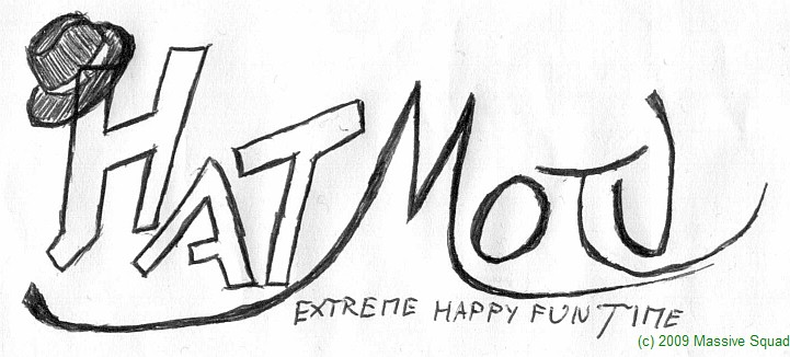 Logo: Hyman and the mustards of the universe EXTREME HAPPY FUN TIME